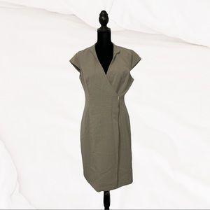 Calvin Klein Gray Wrap Dress cap sleeves size 8